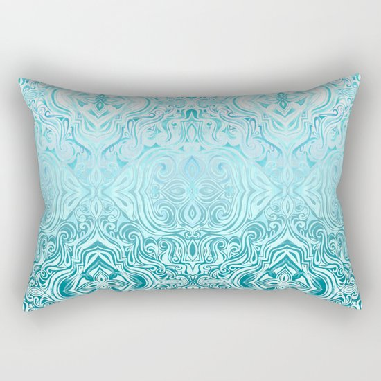 Twists & Turns in Turquoise & Teal Rectangular Pillow