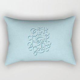 Heart of Gold Rectangular Pillow