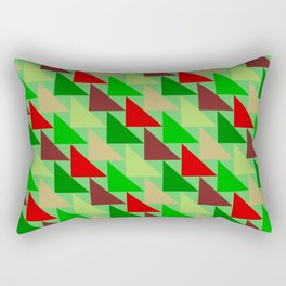 Stylish Red Green Christmas Triangle Tessellation Rectangular Pillow