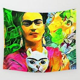 Frida's Cat Wall Tapestry
