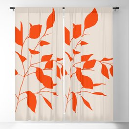 Red Leaves Blackout Curtain