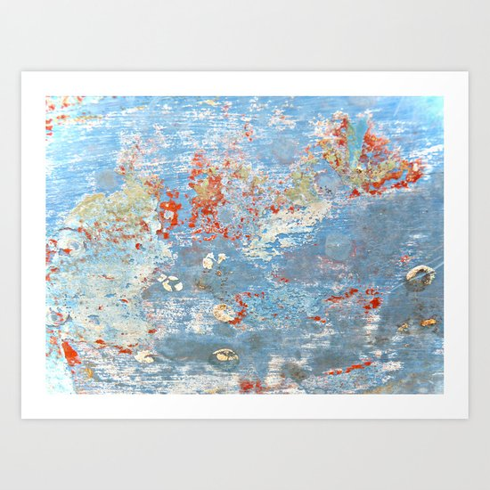Memories of the Sea -- abstract marine paint age grunge boat nautical  Art Print