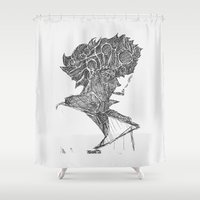 cowboy Shower Curtains featuring Space Cowboy by Hinterlund