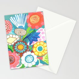 Emerald flowers Stationery Cards