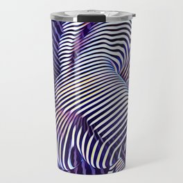 0727s-MM_4649 in Blue Sensual Striped Strong Woman's Torso Back Butt Travel Mug