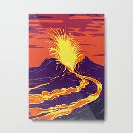 Hawaii Volcanoes National Park Metal Print