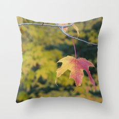 Acer Leaf Throw Pillow