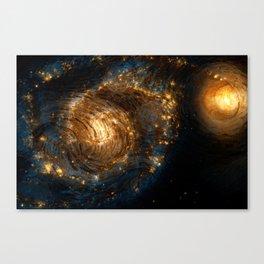 Starry Galaxy Night Canvas Print