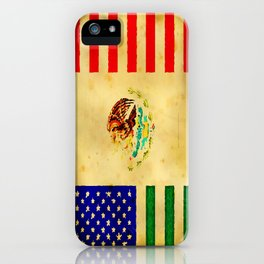 MEXICAN AMERICAN FLAG - 017 iPhone Case