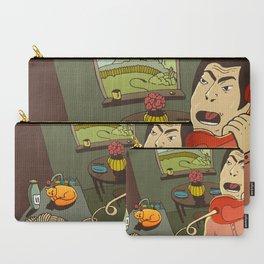 Asian kitchen, noodles and cat Carry-All Pouch
