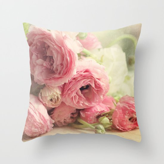 the first bouquet Throw Pillow