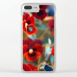 Red violas Clear iPhone Case