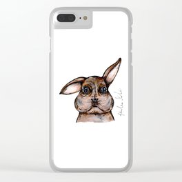 Baba the Bunny Clear iPhone Case