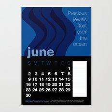 2013 Pigment to Pantone Calendar – JUNE Canvas Print