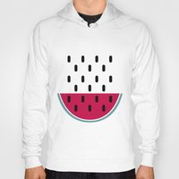 watermelon Hoodies featuring Watermelon by According to Panda