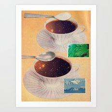 Stellar coffee Art Print