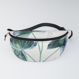 Water lily leaves Fanny Pack