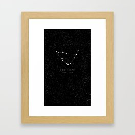 Capricorn Zodiac Constellation Framed Art Print