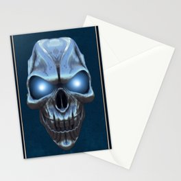 Skull with glowing blue eyes Stationery Cards