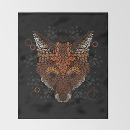 Fox Face Throw Blanket