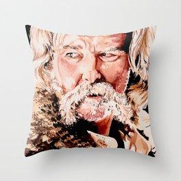 Kurt Russell Watercolor Portrait Throw Pillow