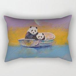 Panda Lake Rectangular Pillow