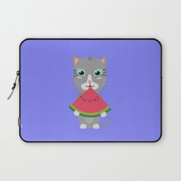 Cat with Melon Laptop Sleeve