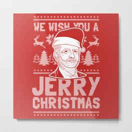 Wishing You a Jerry Christmas Corbyn Xmas Metal Print