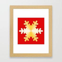Gold Snowflake Framed Art Print