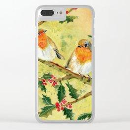 English Robin Clear iPhone Case