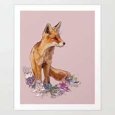 Fox Season Art Print