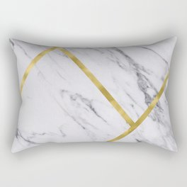 Golden classic marble Rectangular Pillow