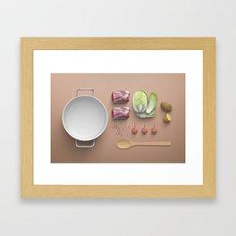 Food Flatlay Framed Art Print