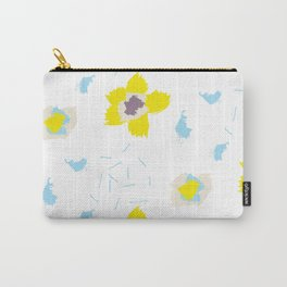 Blue & Yellow Patterns Carry-All Pouch