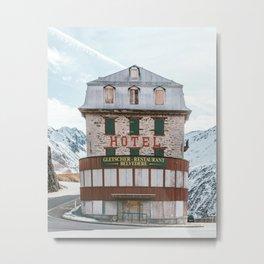 Hotel Belvedere, Switzerland Metal Print
