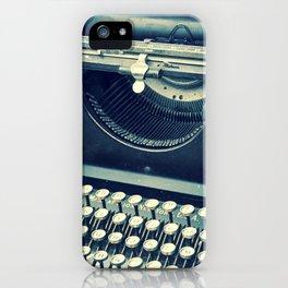 Maquina de Escribir iPhone Case