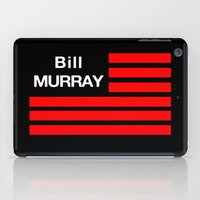 bill murray iPad Cases featuring Bill Murray Flag by Spyck