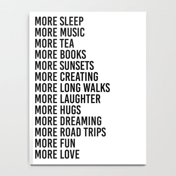 more sleep more music more tea Notebook