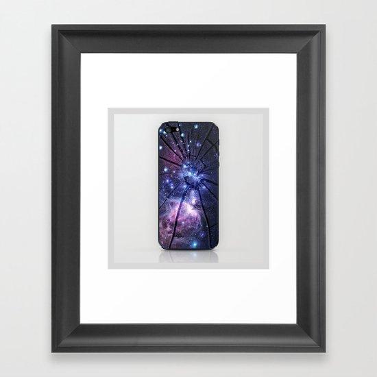 Broken Galaxy Framed Art Print