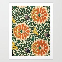 Vintage Flourish Pattern Art  Art Print