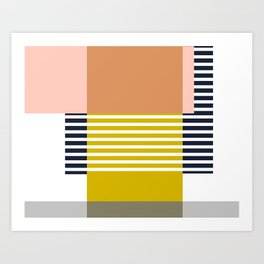 Marfa Abstract Geometric Print Art Print