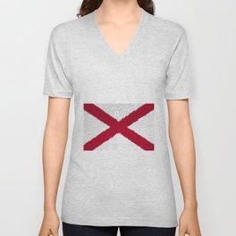 Extruded flag of Alabama Unisex V-Neck