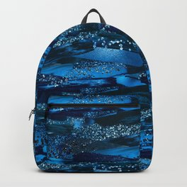 Deep Crystallized Blue Backpack
