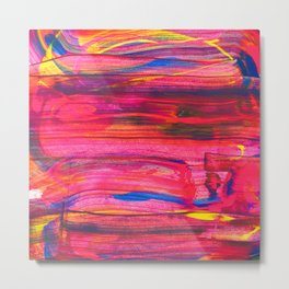 Rainbow Party Abstract Painting Metal Print