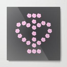 I Love Flowers Metal Print