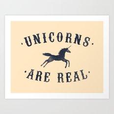 Unicorns Are Real II Art Print