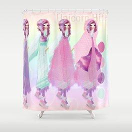Unicorn Hime Design Sheet Shower Curtain