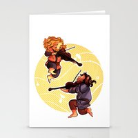 fili Stationery Cards featuring Fiddling Fili and Kili by quelm