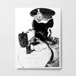 Here Comes the Fuzz Metal Print