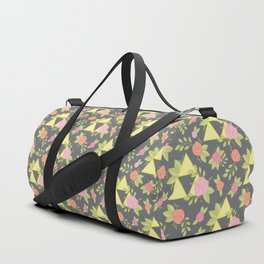 Garden of Power, Wisdom, and Courage Pattern in Grey Duffle Bag